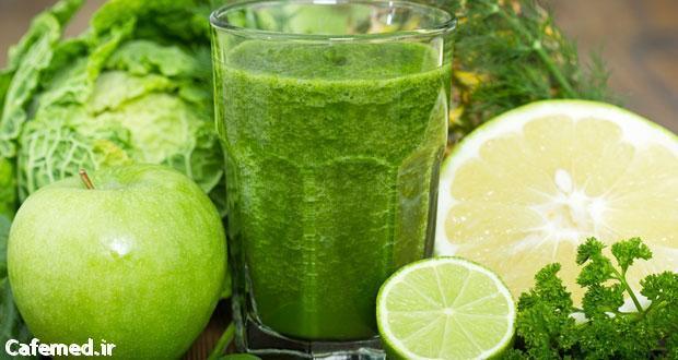 کاهش وزن و سم زدایی با اسموتی سبز رنگ