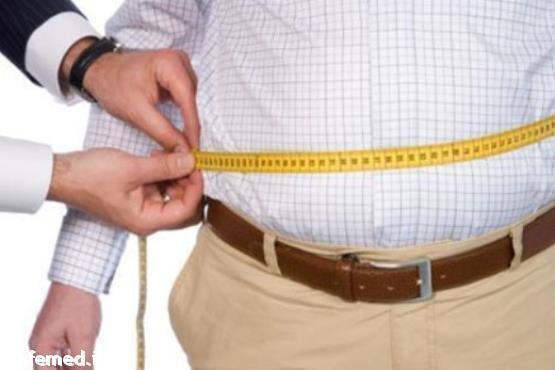 لطمات اضافه وزن در مردان