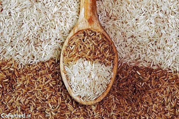 اطلاعات تغذیه ای برنج سفید و قهوه ای